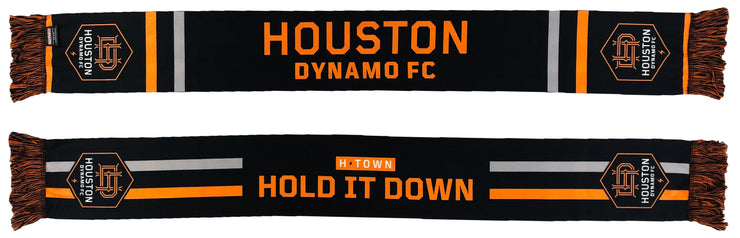 Houston Dynamo H-Town Black Summer scarf both sides