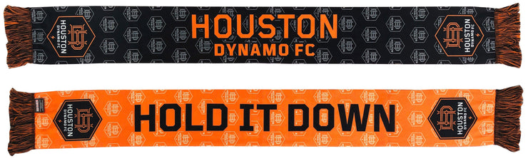 Houston Dynamo repeating logo summer scarf both sides