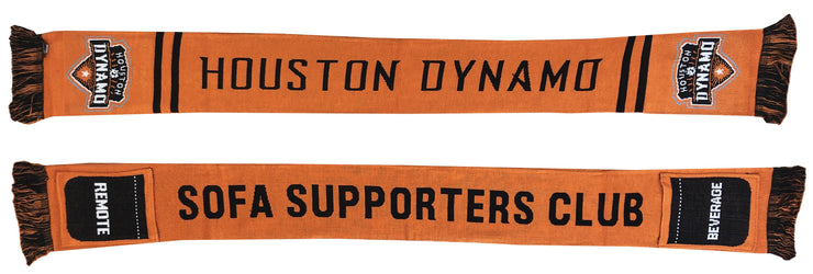 Houston Dynamo sofa supporters pocket scarf