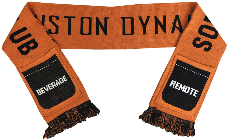 Houston Dynamo sofa supporters pocket scarf folded