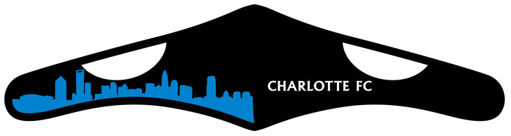 Charlotte FC face mask with city skyline