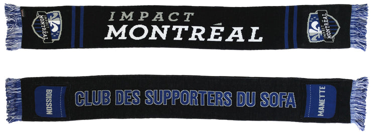 Montreal Impact sofa supporter pocket scarf