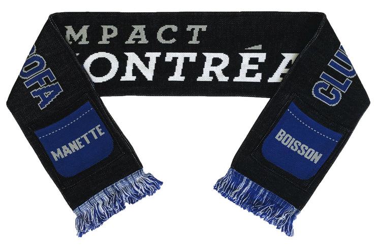 Montreal Impact sofa supporter pocket scarf folded