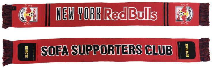 New York Red Bulls sofa supporter scarf