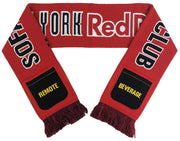 New York Red Bulls sofa supporter scarf folded