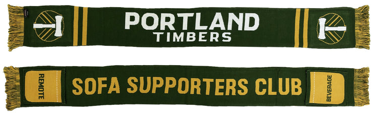 Portland Timbers sofa supporters pocket scarf