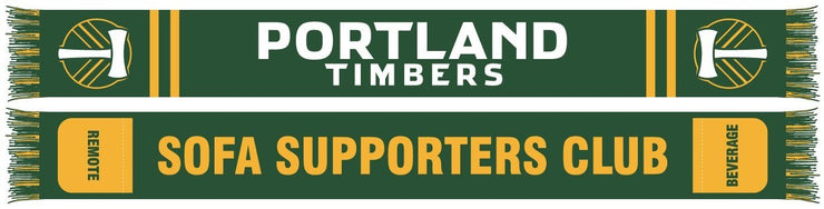 Portland Timbers Sofa supporters club scarf