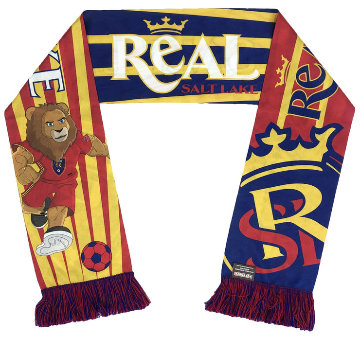 Real Salt Lake mascot scarf folded