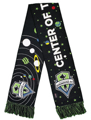 SEATTLE SOUNDERS SCARF - Center of the Universe 2.0 (HD Woven)
