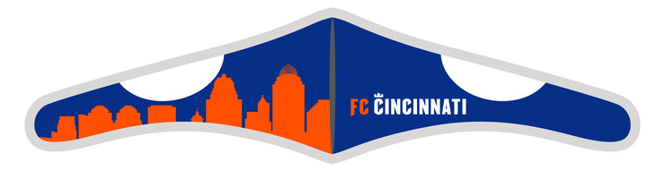 Velcro Wrap Face Mask - Triple Layered - FC Cincinnati Skyline