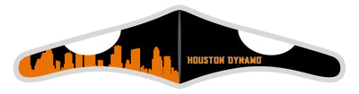 Velcro Wrap Face Mask - Triple Layered - Houston Dynamo Skyline (Pre-Order)