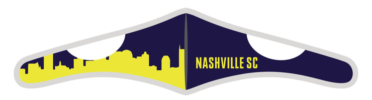 Velcro Wrap Face Mask - Triple Layered - Nashville SC Skyline