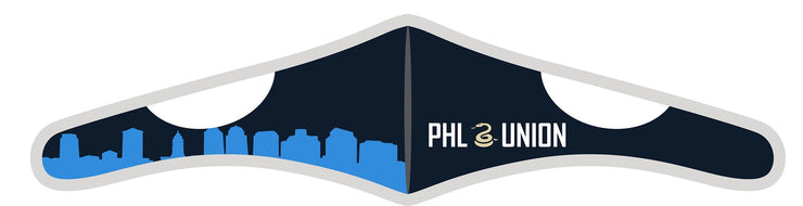 Velcro Wrap Face Mask - Triple Layered - Philadelphia Union Skyline