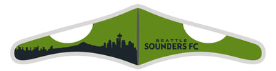 Seattle Sounders Face Mask - Velcro Soccer Mask - Skyline