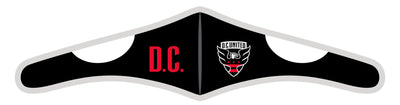 Velcro Wrap Face Mask - Triple Layered - D.C. United City Text (Pre-Order)