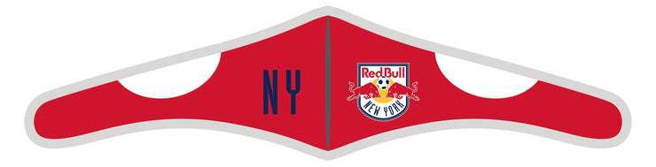 Velcro Wrap Face Mask - Triple Layered - New York Red Bulls City Text