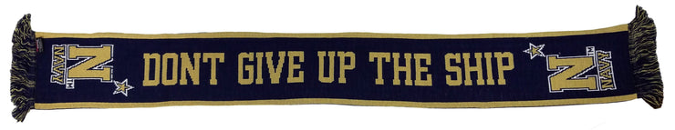 NAVY SCARF - Don't Give Up The Ship