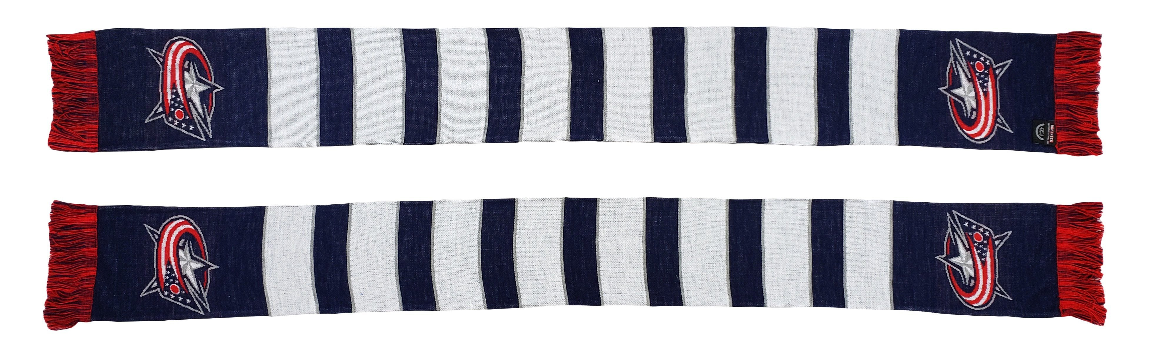 COLUMBUS BLUE JACKETS SCARF - Traditional Bar Scarf (HD Knit)
