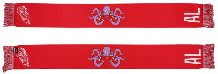 DETROIT RED WINGS SCARF - Mascot - AL (Summer Scarf)