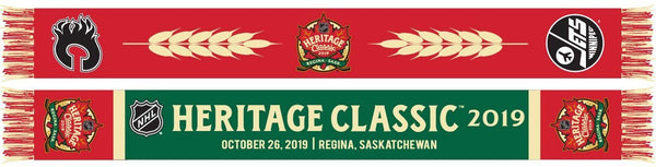 2019 NHL HERITAGE CLASSIC SCARF - Calgary Flames - Winnipeg Jets (HD Woven)