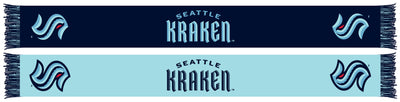 Seattle Kraken scarf with two tone colors.