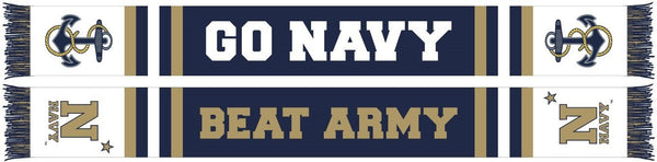 NAVY SCARF -  Go Navy Beat Army!