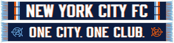 NYCFC SCARF - One City. One Club. (HD Woven Scarf)