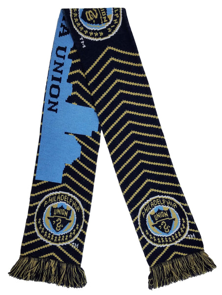 PHILADELPHIA UNION SCARF - Chevron Skyline