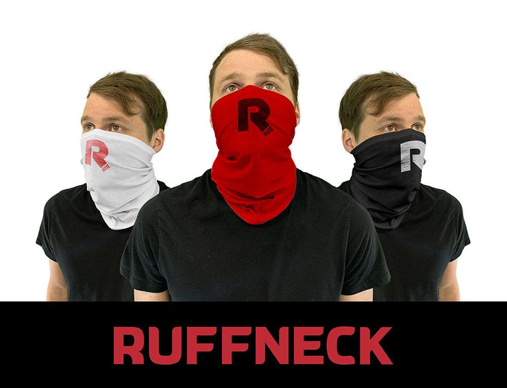 Ruffneck Neck gaiter viewed from different angles