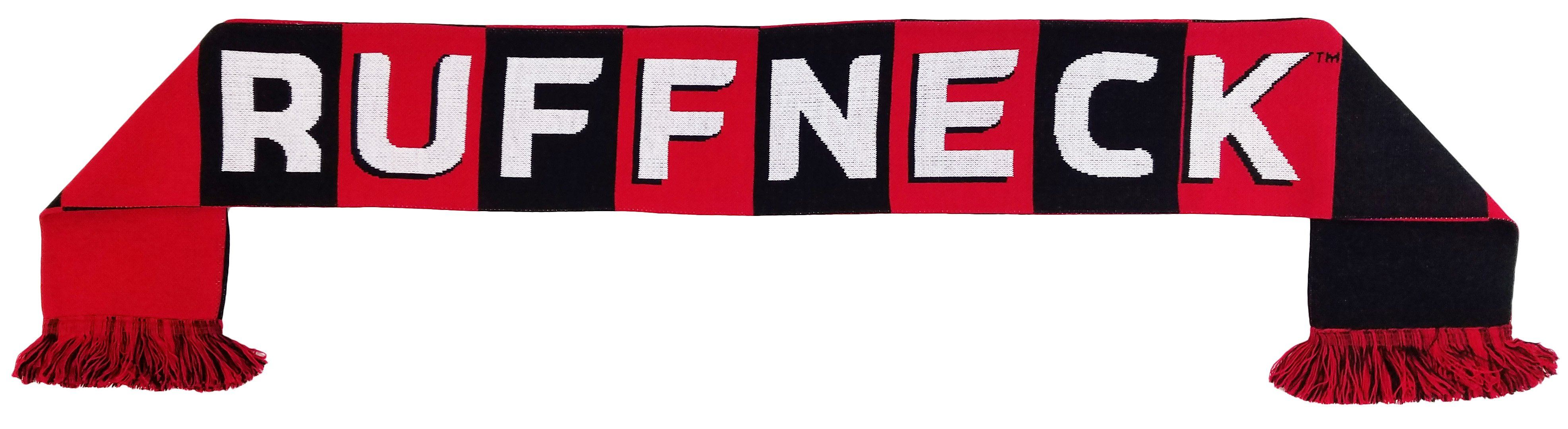 BLACK and RED RUFFNECK BAR SCARF