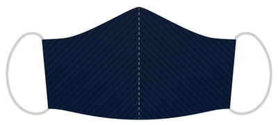 Polyester Face Mask - Navy Striped