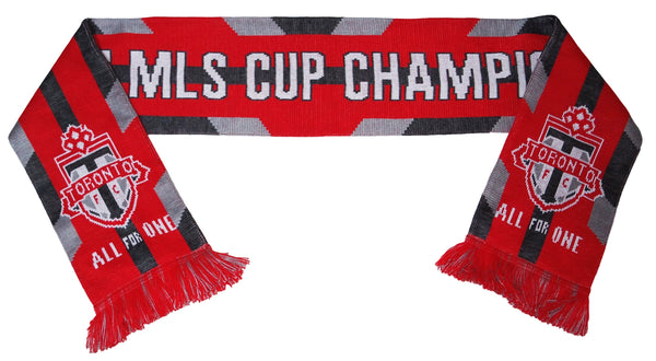 TORONTO FC SCARF - 2017 MLS Cup Champions - Traditional Knit **SALE**