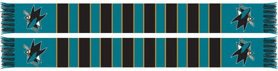 SAN JOSE SHARKS SCARF - Traditional Bar Scarf