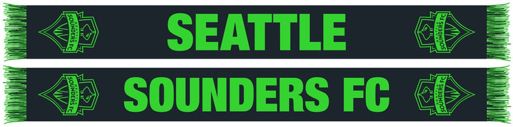 Seattle Sounders black scarf