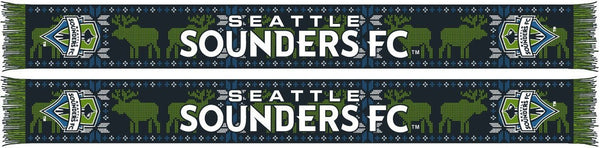 SEATTLE SOUNDERS SCARF - Ugly Sweater (Knit)