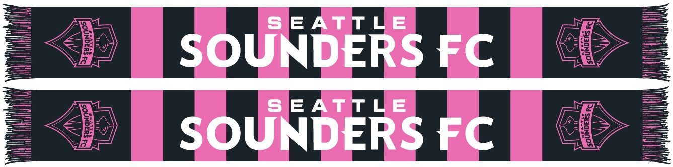 SEATTLE SOUNDERS SCARF - Secondary Kit Pink n' Black Bars