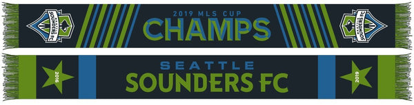 SEATTLE SOUNDERS SCARF - 2019 MLS Cup - 2 Star Champs