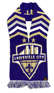 Louisville City FC Scarf - Chevrons (HD Knit)