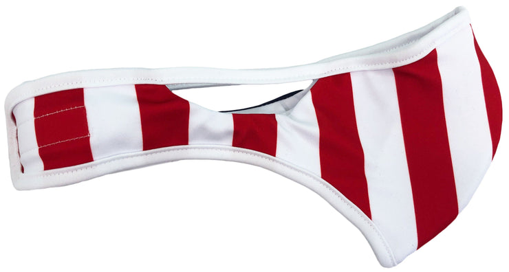 USMNT Velcro face mask flag left side