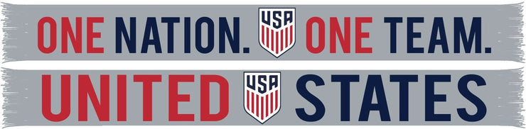 US SOCCER SCARF - Gray Bold One Nation One Team
