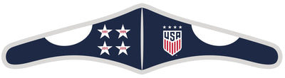 USWNT Velcro face mask with 4 stars design.