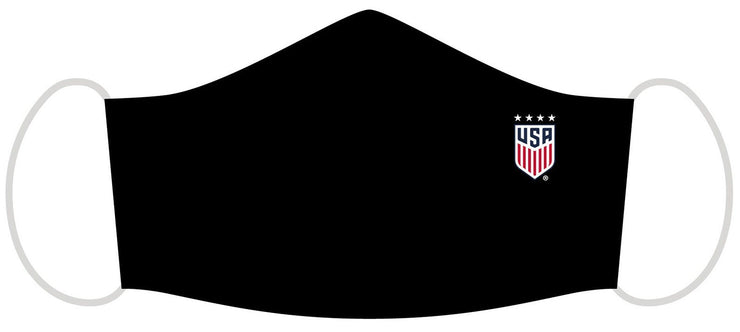 USWNT Face mask water resistant, black.