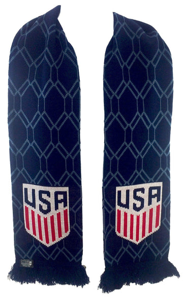 US SOCCER SCARF - Blue Hex - Ruffneck Scarves - 3