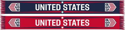 US SOCCER SCARF - Red, White and Blue