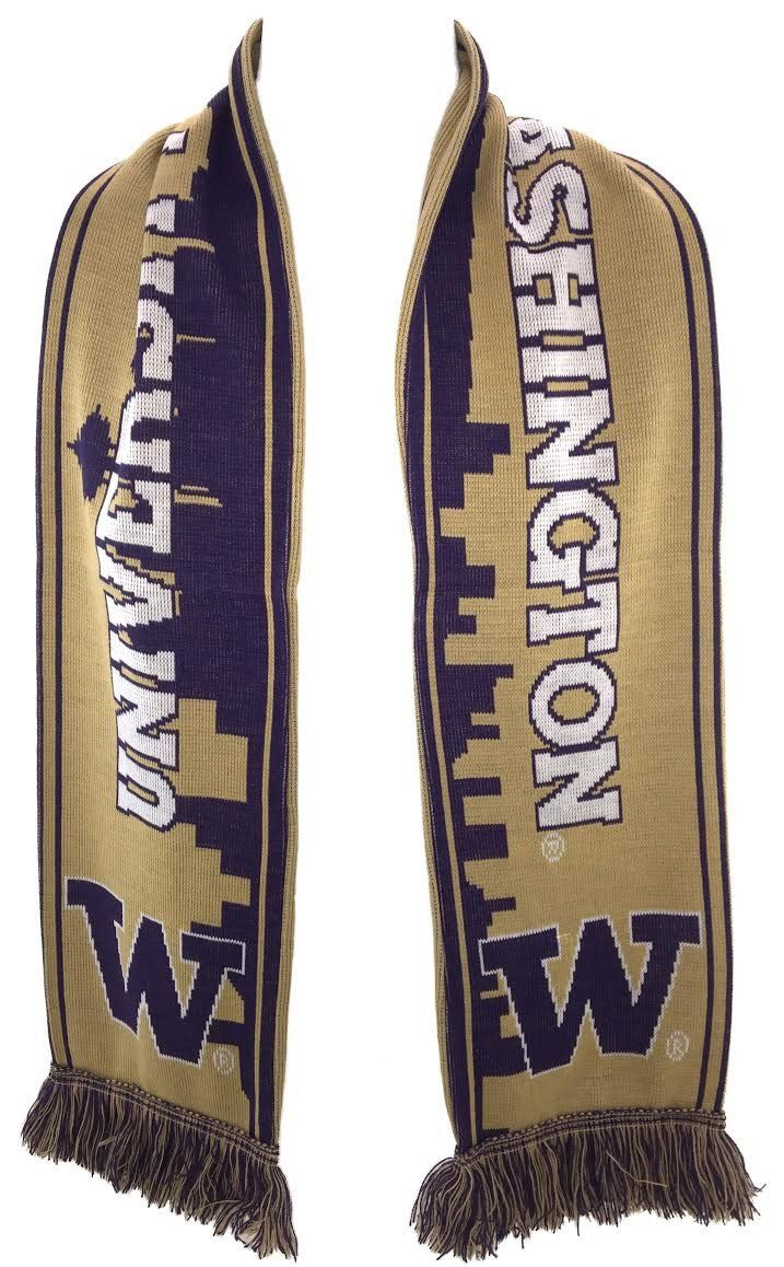 UW HUSKIES SCARF - Seattle Skyline - Ruffneck Scarves - 3