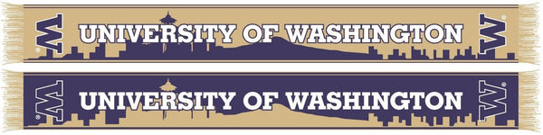 UW HUSKIES SCARF - Seattle Skyline - Ruffneck Scarves - 1