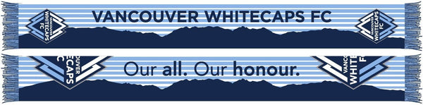VANCOUVER WHITECAPS SCARF - North Shore Mountains Blue
