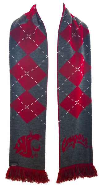 WSU COUGARS SCARF - Argyle - Ruffneck Scarves - 2