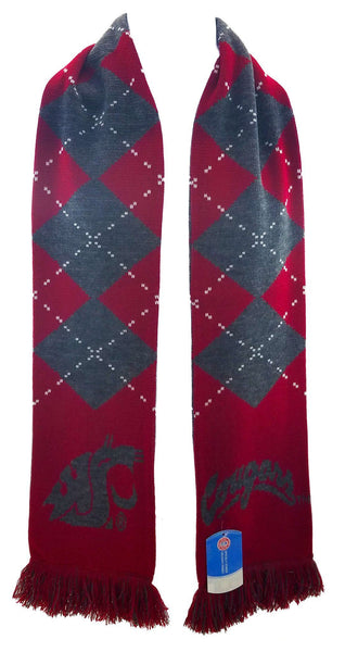 WSU COUGARS SCARF - Argyle - Ruffneck Scarves - 3