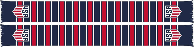 US SOCCER SCARF - Multi-Bar - Ruffneck Scarves - 1